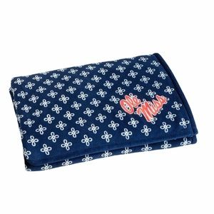 Vera Bradley Ole Miss Throw Blanket, Blue, Twin XL
